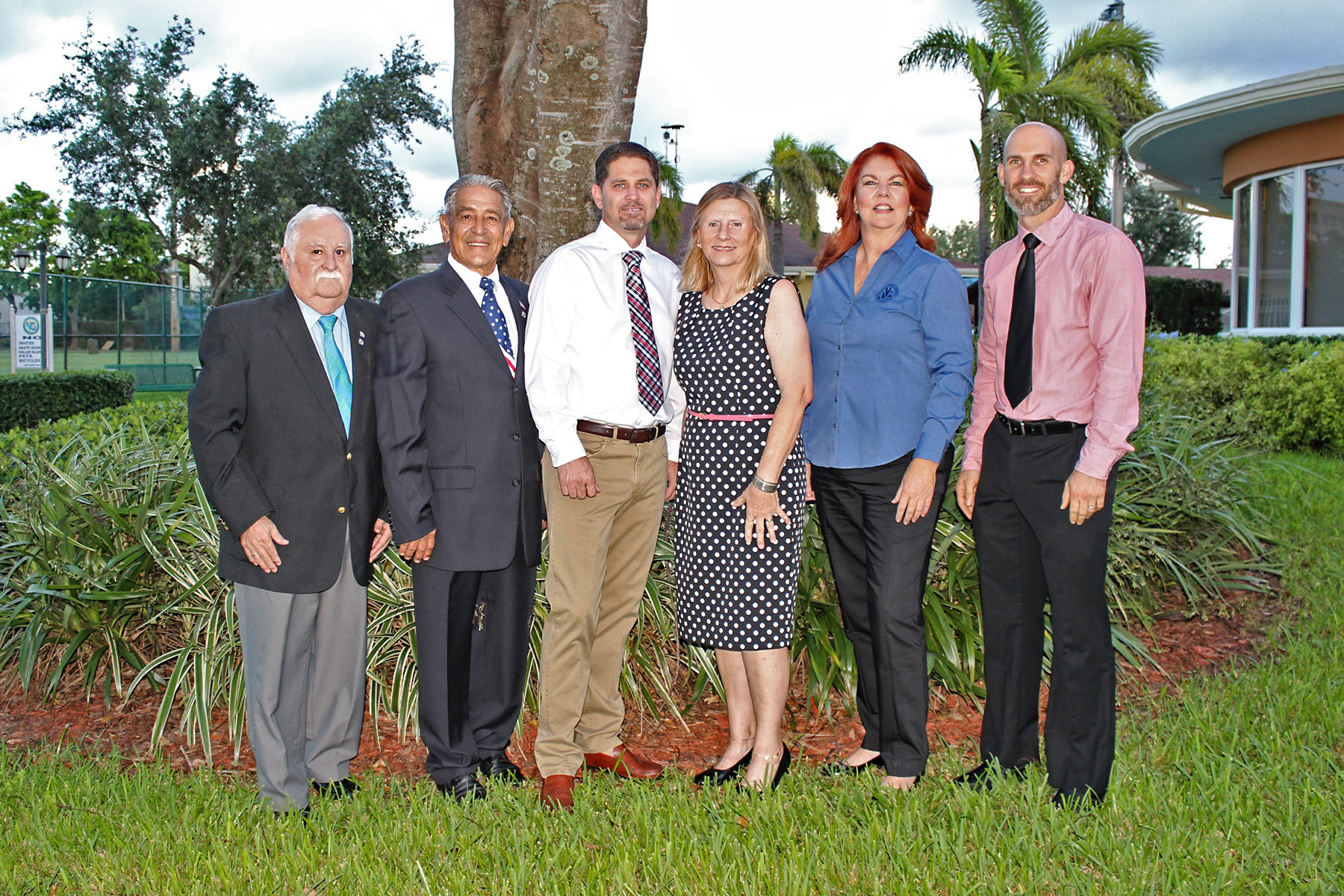 Mayor with council members